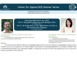 CAGIS Seminar October 9th: Emerging Applications for UAVs