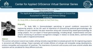 CAGIS virtual seminar: Using Remote Sensing (incl. Drones) to assess Risk [Mills]