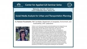CAGIS Seminar: Nastaran Pourebrahim presents on mapping social media data
