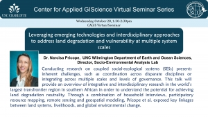CAGIS Virtual Seminar Series 10/28: Addressing land degradation challenges in southern Africa using technology and interdisciplinary approaches