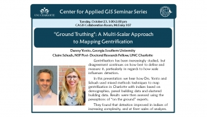 CAGIS Seminar October 23rd | A Multi-Scalar Approach to Mapping Gentrification