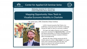 CAGIS Seminar, September 25th: Justin Lane talks about the Opportunity Atlas