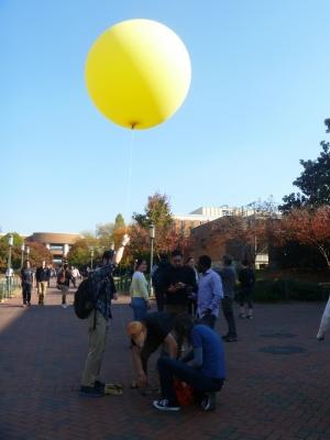 balloon at GIS day